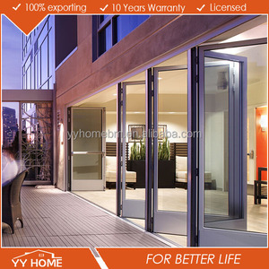 Australia standard industrial accordion doors fire rated magnet design folding doors