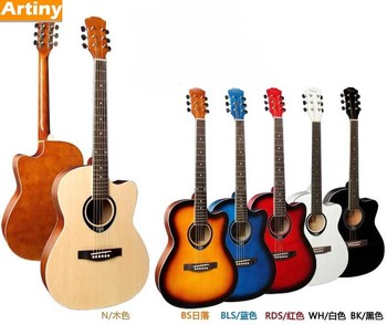 39 Brand New Design Hotsell Famous Style Guitar Color Cheap Price Acoustic
