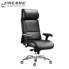 Comfortable executive black high back leather swivel office chair best ergonomic office chair