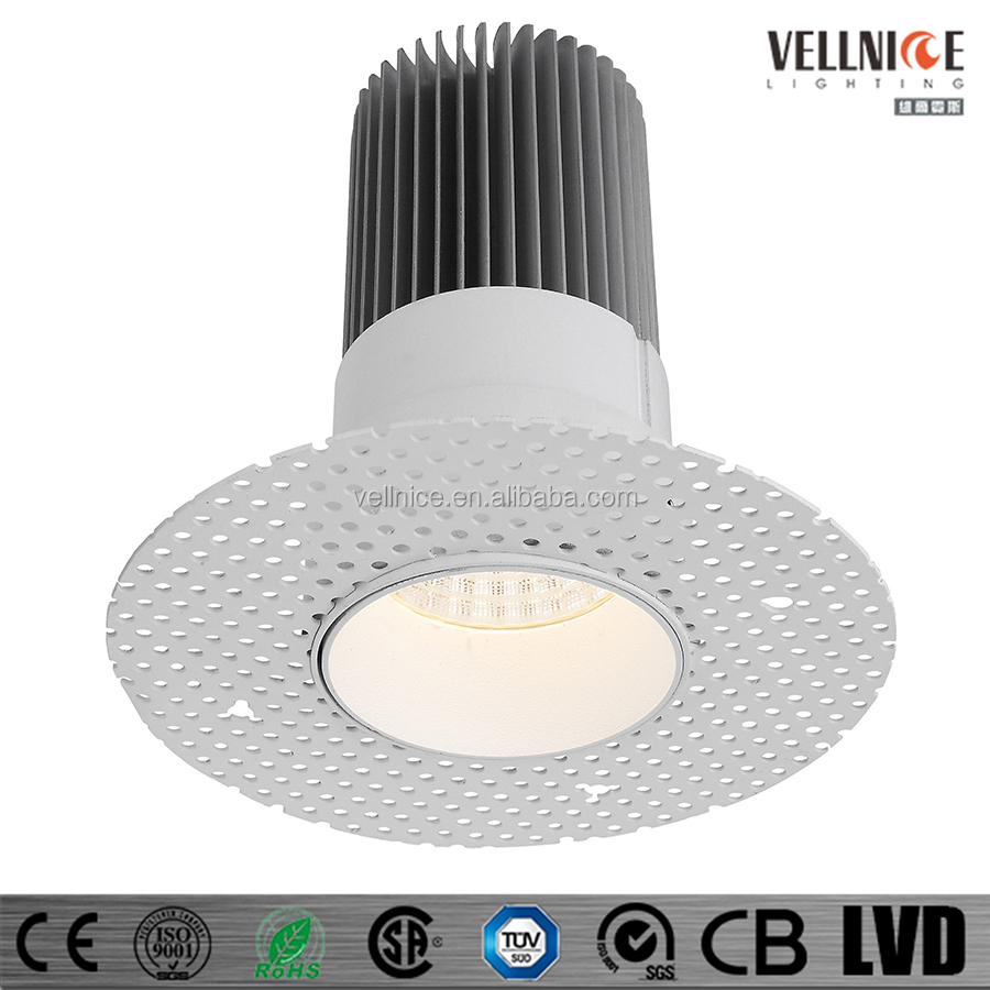 Trimless 15watt Led Recessed Down Lamp Fixture With Flange Mud ...