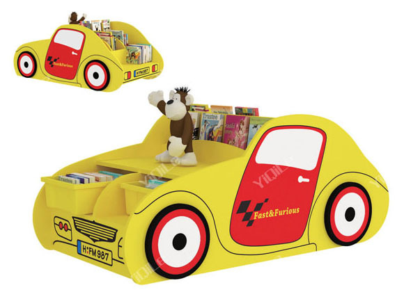 little car shape kids furniture for book collection