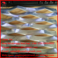 Alibaba galvanized punching heavy duty expanded metal sheet mesh from China