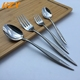 High-grade middle eastern stainless steel silver cutlery, promotional hotel restaurant use flatware with OEM ODM