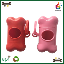 Bulk bone shaped durable pet waste bag dispenser for dog poop