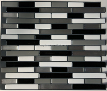Grey White Black 3d Gel Backsplash Sheet Peel Stick Tile Sticker