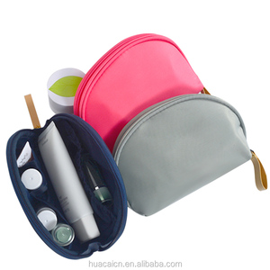Portable nylon toiletry cosmetic bag make up purse makeup kit pouch