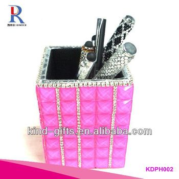 2014 Pop Bling Rhinestone Pen Holders With Crystal China Factory