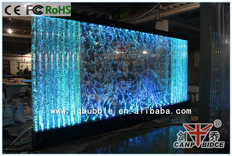 Customized Led Aquarium Hotel Furniture Lobby Wall Decoration With ...