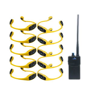 Lightweight Multiple-functional H-903 Waterproof Wireless 7 Frequencies Swimming Training 1*Walkie Talkie 10*Headsets