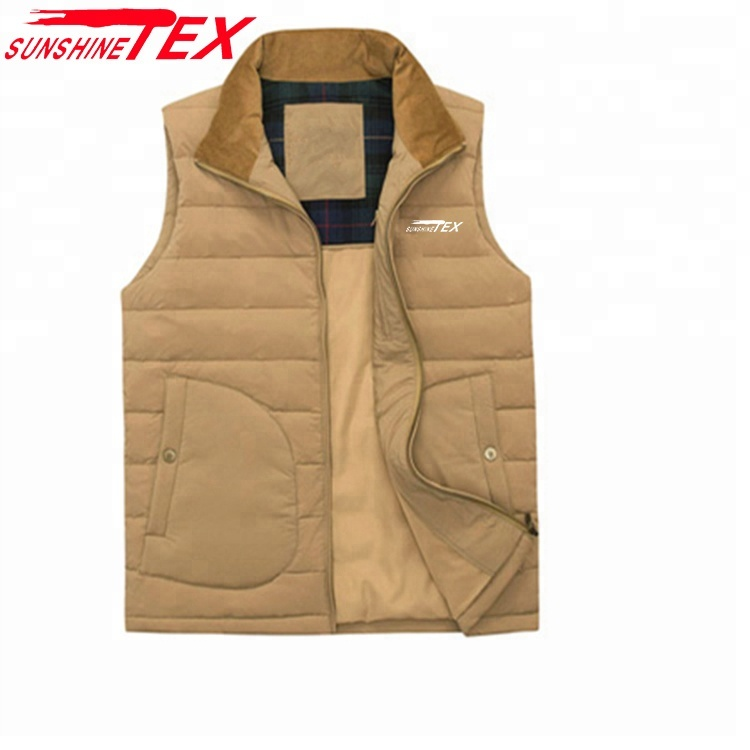Warme Outdoor Bodywarms Sleeveless Jacket Outdoor Herren Daunenweste