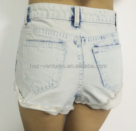 Newest Design Women Denim Shorts/ladies Denim Short / Snow Washed ...