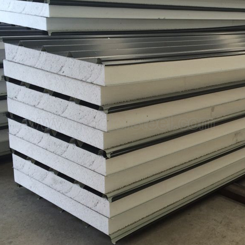 Myanmar polystyrene sandwich roof panel wholesale for divider wall with fireproof material