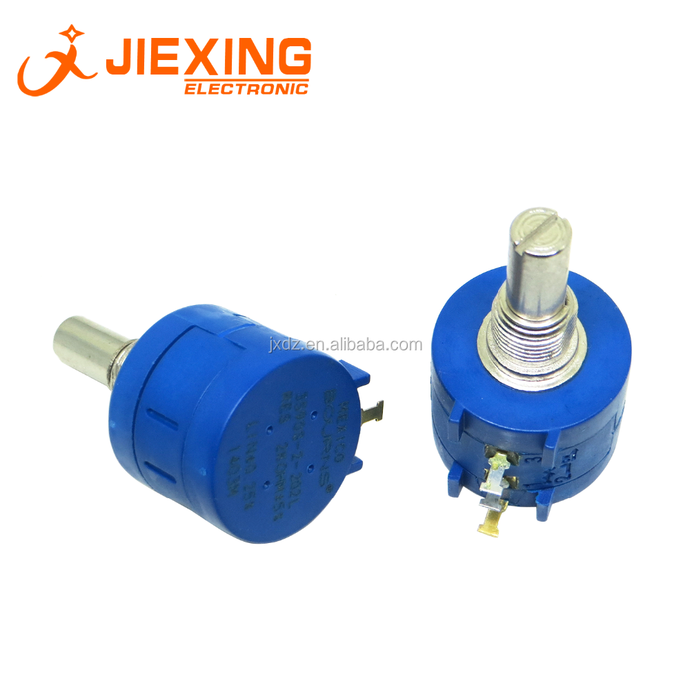 3590S 2 202L 2K Ohm Rotary Wirewound Precision Potentiometer Pot 10 Turn