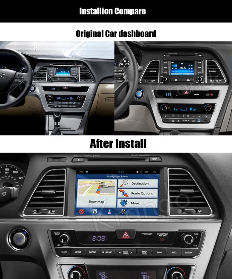 Krando Android 7 1 Car Radio Navigation System For Hyundai Sonata Lf 2015  2016+ Car Dvd Player Multimedia Wifi 3g Bt Kd-hy819 - Buy For Hyundai  Sonata