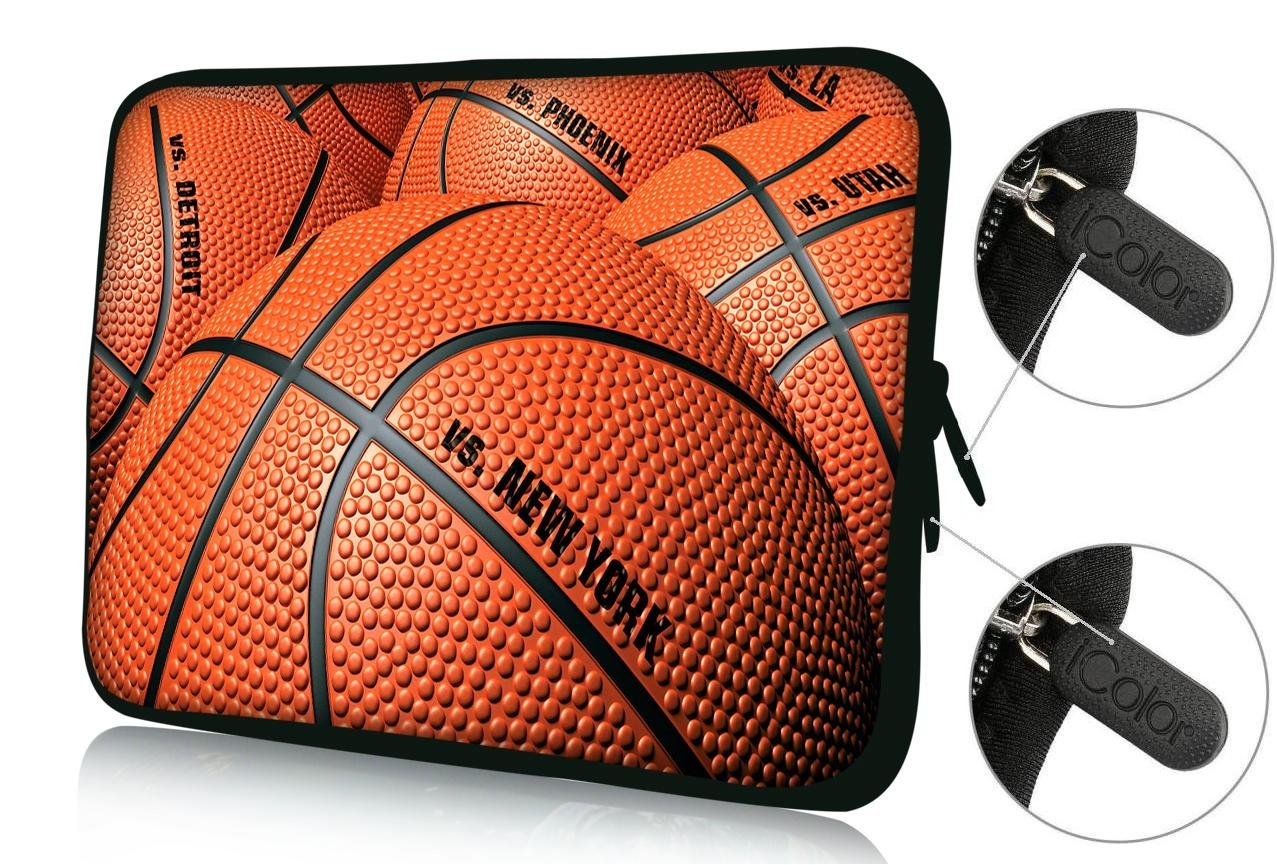 "FBAps17-010 NEW Art design Basketball 16"" 17"" 17.1"" 17.3"" 17.4"" inch soft Neoprene Notebook Computer Laptop Protection Sleeve Bag Case cover pouch Holder for Apple MacBook pro 17 /Dell Inspiron 17R Vostro XPS Alienware M17x /Acer/ lenovo / Samsung 700 Sony Vaio E 17"" HP Pavilion DV7 ENVY 17/Asus"