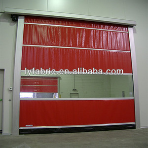industrial pvc coated polyester mesh fabric for pvc rapid/fast door