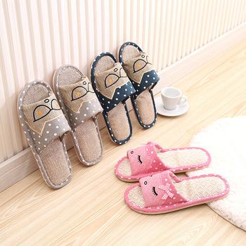 Boys And Girls Men Women Indoor Bedroom Linen Cute Cheap Slippers - Buy  Cute Bedroom Slippers,Washable Indoor Slipper,Cheap Bedroom Slippers  Product ...