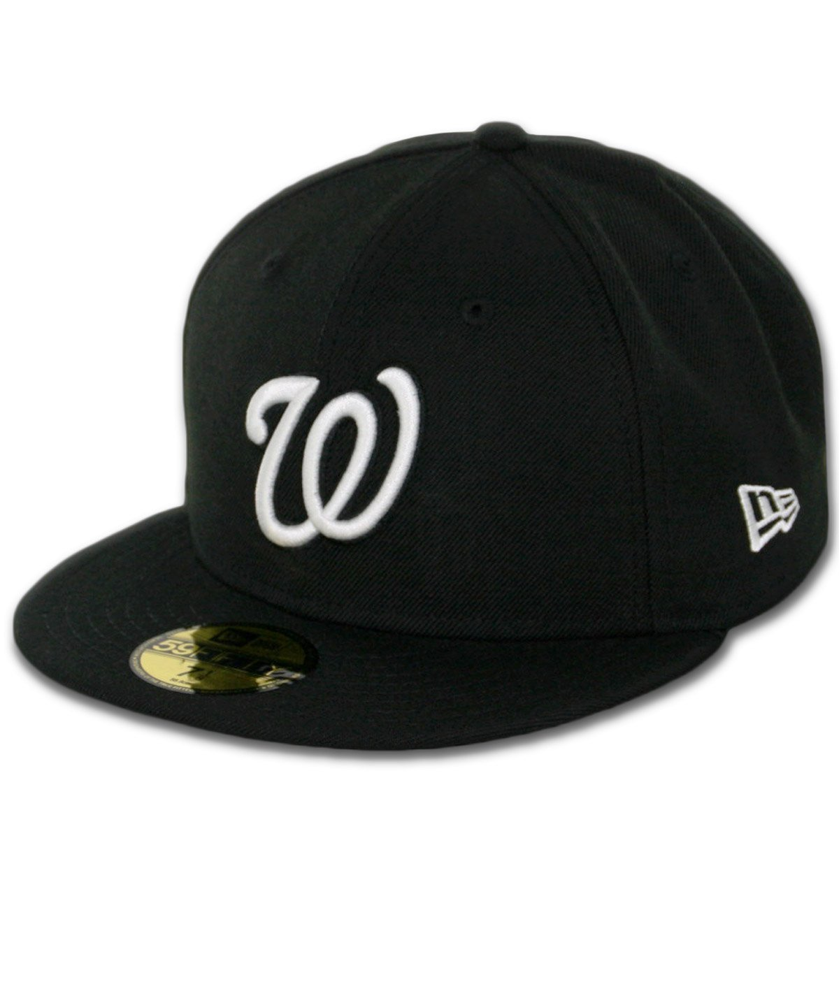 super popular cb9f8 4fa94 Get Quotations · Washington Nationals New Era 59Fifty Fitted Black Hat (7  3 8)