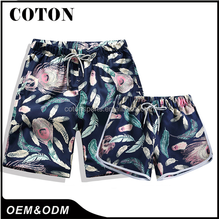 Guangzhou manufacturer Custom design unisex swimwear board shorts