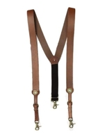 High quality men's genuine leather suspender belts