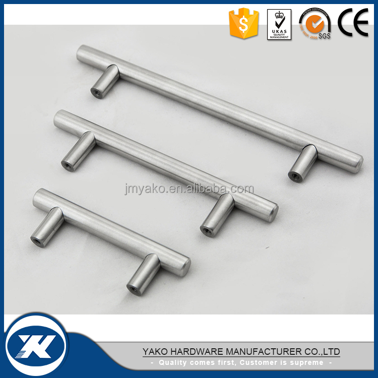 10mm/12mm Brushed Stainless Steel Kitchen Cabinet Handles T Bar Pull handle