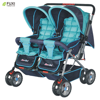 Big baby stroller for twins/cute classic baby stroller /baby carriage with steady eight wheels