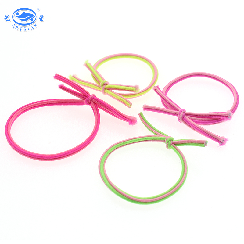 Bright color goody quality popular ponytail round rubber bands