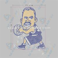basketball player iron on rhinestone motif of 2012 May
