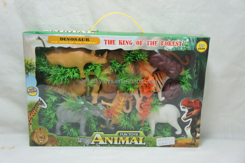 Wild Animal Set Educational Baby Toys Plastic Zoo Animal Set Toy