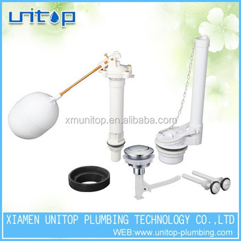 Toilet Fill Valve Ball Cock Flapper Single Flush For Water Tank Fittings