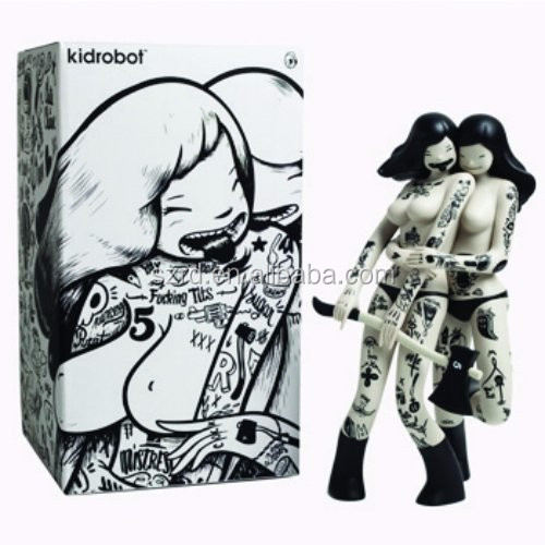 Customized unique Kidrobot Les Viandardes Art action figure for child