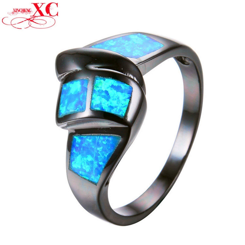 Gemmart White Opal Green Gold Filled Ring engagement rings