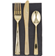 disposable wedding PS plastic gold cutlery set /fork/knife/spoon