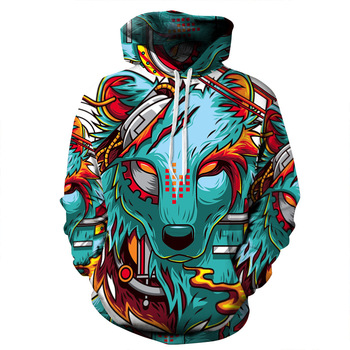 Best Selling Custom Long-Sleeve Animal 3D Hoodie Jersey Couple Sweatshirt b72e8f09f