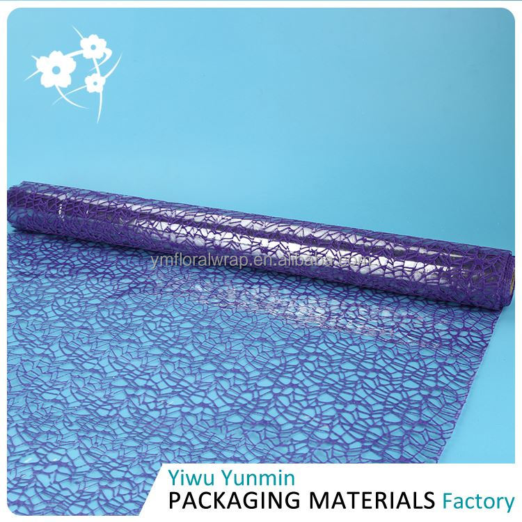 TOP sale comfortable design Crystal Fiberglass Jacquard cheap floral wraps for gift packing