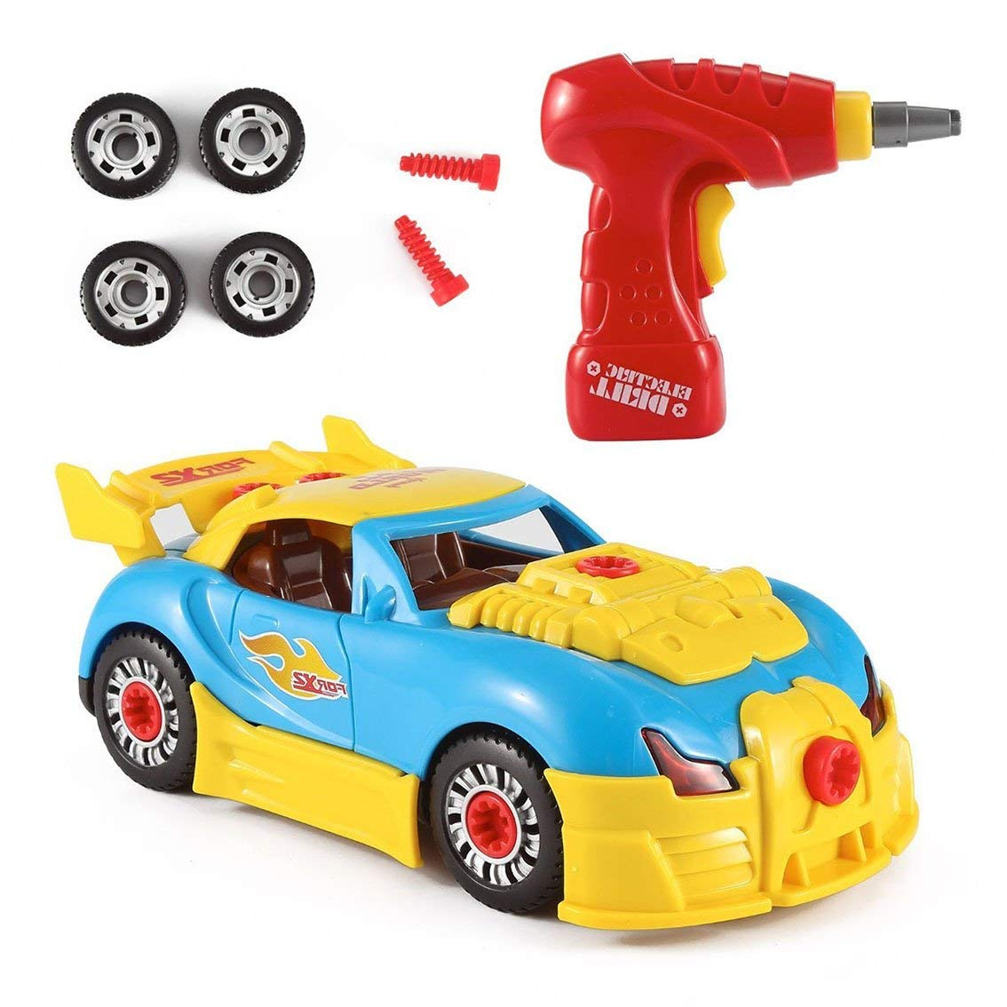 Toys for 2 Year Old Boys, DIMY Take Apart Racing Car Toys Educational Toy Gifts for 3-7 Year Old Boys Toys for kids Mothers Day Gifts DMTC02