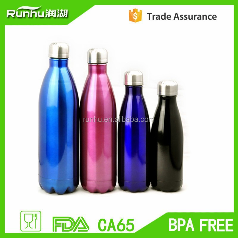 stainless steel double wall vacuum cola bottlesport water bottles for travelling RH503-750