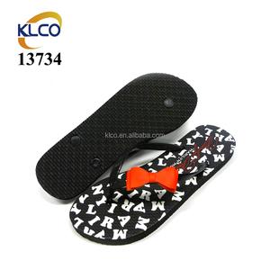 Letter Slipper Bowknot With Combination Sandal Flipper Ladies Print wmv0N8On