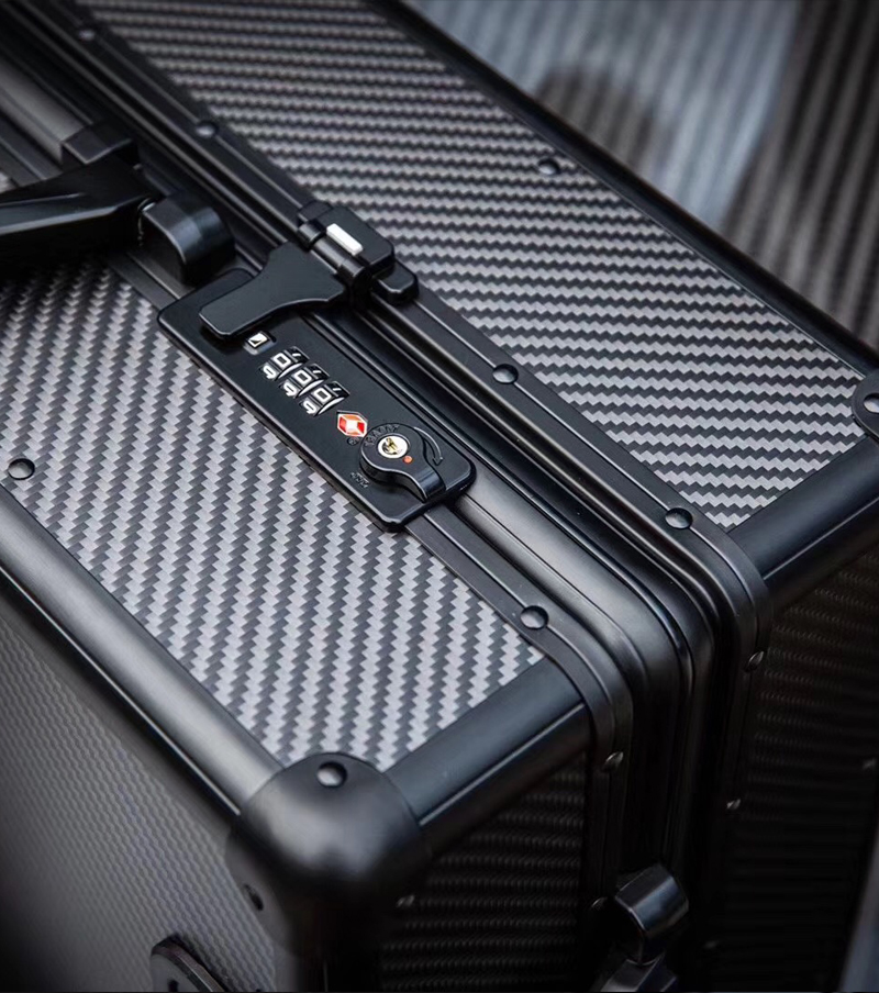 100% real carbon fiber trolley luggage suitcase 15