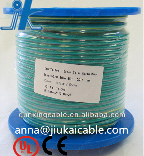 yellow green grounding earth cable 25mm