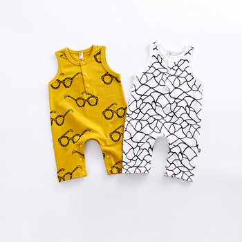 S33367W New 2017 fashion grids baby rompers baby boy clothes newborn cotton Jumpsuits