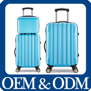 Two Wheel ABS PC Trolley Luggage /Bag/Cabin Size Case ABS Luggage Set