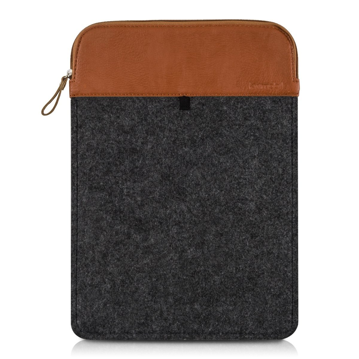 """kwmobile laptop felt case cover for 12,5"""" 13"""" 13,3"""" Laptop / Ultrabook - notebook protective cover in dark grey brown Inner dimensions: approx. 36 x 26 cm"""