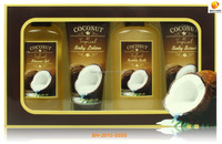 Natural coconut body therapy bath set
