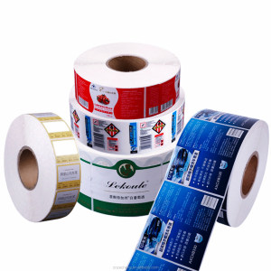 customized colorful roll adhesive paper stickers for bottles,vinyl sticker roll