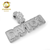 sterling silver 925 mens aaaaa quality lab diamond custom made hiphop pendant