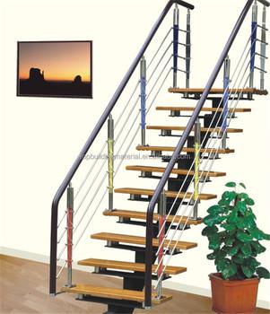 Modern Straight Single Stringer Steel Staircase Design Buy