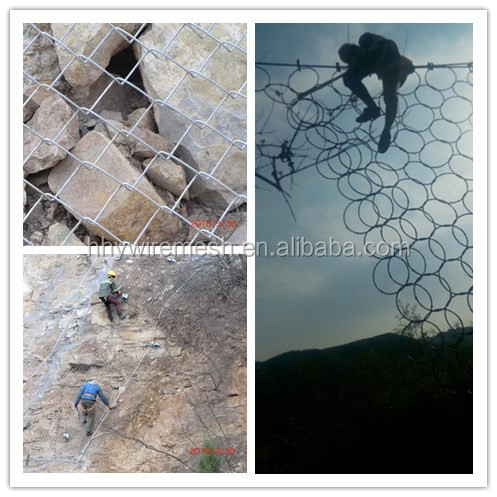 AAA Slope stabilization mesh system rockfall and drapery mesh