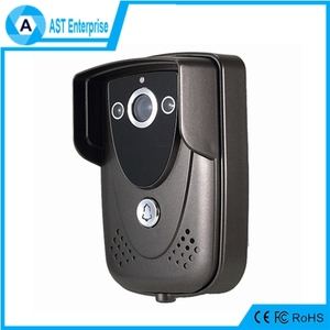 P2P Waterproof GSM WiFi doorbell intercom wireless, support PIR and motion detection with ir led nightvision