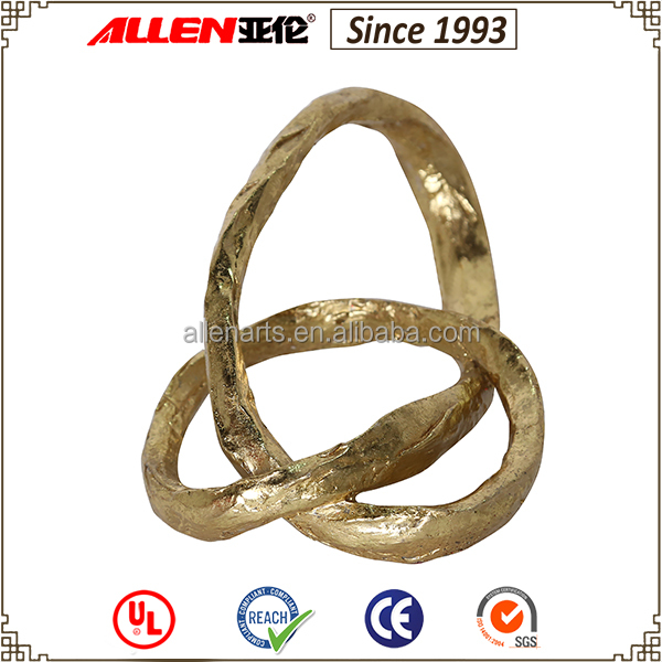 Gold mental plating craft Hand ribbons arc furnishings mental plating craft